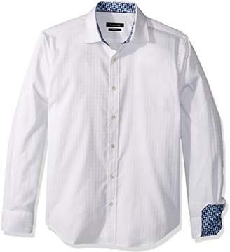 Bugatchi Men's Cotton Slim Fit Point Collar Woven