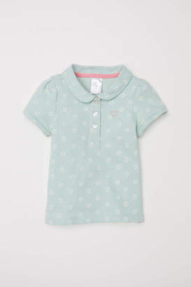H&M Polo Shirt - Light green/floral - Kids