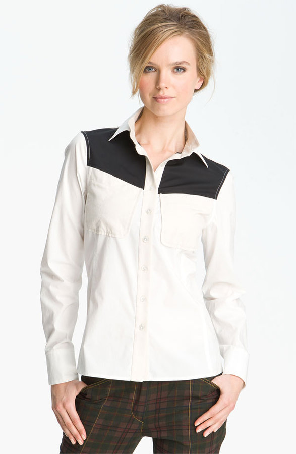 10 Crosby Derek Lam Colorblock Shirt