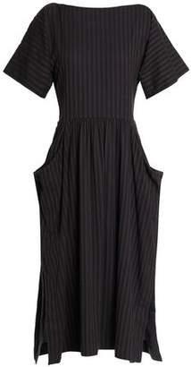 James Perse Cotton-Blend Twill Shirt Dress