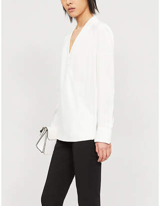 Givenchy Wrap-front woven top