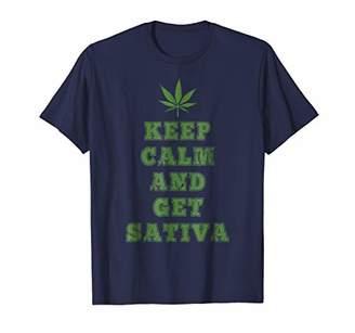 Keep Calm and Get Sativa Marijuana Cannabis CBD Shirt