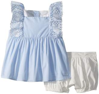 Chloé Kids Two-Pieces French Embroidery Blouse/Percale Shorts Girl's Active Sets