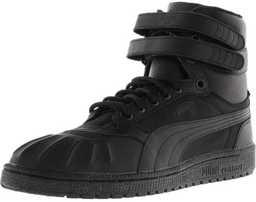 Puma Men's Sky Ii Hi Duck Boot Black Ankle-High Leather Fashion Sneaker - 11M