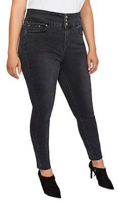 Addition Elle Love And Legend Plus Three-Tier High-Rise Jeggings
