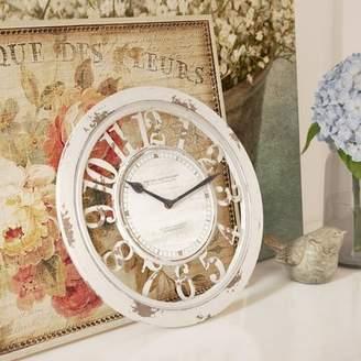Lark Manor Round Antique Contour 10 Wall Clock