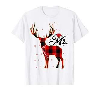 Mr. Reindeer Plaid Pajama Shirt Matching Family Christmas