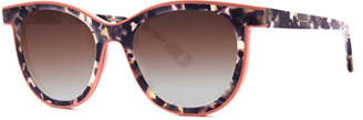 Thierry Lasry Vacancy Two-Tone Gradient Sunglasses, White Pattern