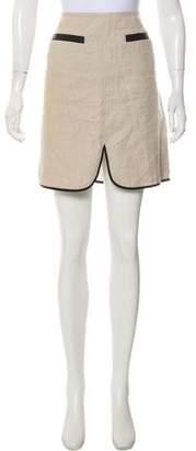 L'Agence Linen Mini Skirt