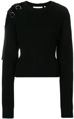 Helmut Lang knit harness shoulder jumper