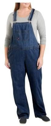 Dickies Women's Denim Bib Overall, Dark Indigo Blue, 20W Regular