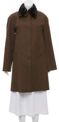 Hermes Mink-Trim Coat