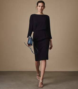 Reiss Hannie Chiffon-Top Shift Dress