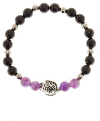 Jean Claude Shiny Black & Purple Agate Bracelet