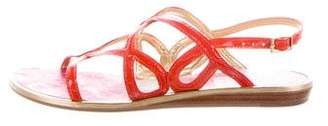 Florence Broadhurst x Kate Spade Patent Leather Crossover Sandals