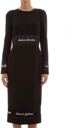 Dolce & Gabbana Dress In Wool Crepe