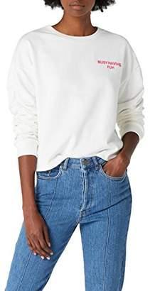 Mavi Jeans Women's Embroidery Sweatshirt T - Shirt, Antique White 25705