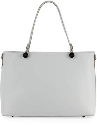 Neiman Marcus Leather Shoulder Tote Bag with Screw-Head Hardware