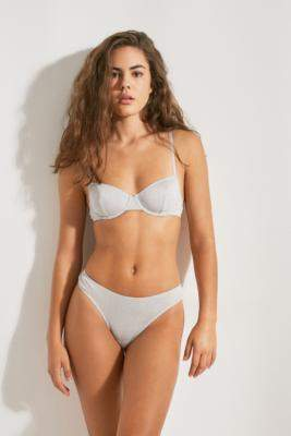 Out From Under Julia '80s Thong - silver XS at Urban Outfitters
