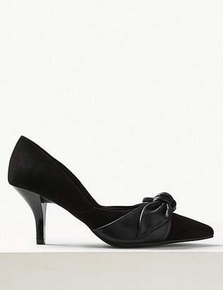 Marks and Spencer Stiletto Heel Knot Pointed Court Shoes