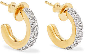 Monica Vinader Fiji Mini Gold Vermeil Diamond Hoop Earrings - one size