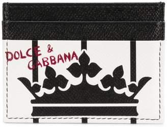 Dolce & Gabbana grained King print card holder