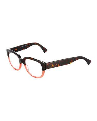 A.J. Morgan Decision Two-Tone Square Readers, Tortoise/Red $36 thestylecure.com