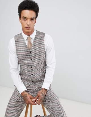 Gianni Feraud Slim Fit Heritage Check Wool Blend Suit vest
