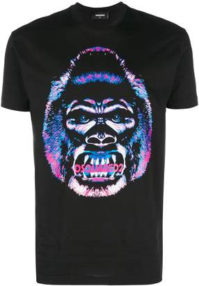 DSQUARED2 monkey logo-patch T-shirt