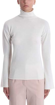 Theory Bell Beige Cashmere And Wool Sweater