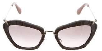Miu Miu Logo Tinted Sunglasses