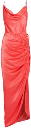 Veronica Beard Natasha Satin Draped Dress