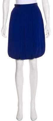 Giorgio Armani Silk Pleated Knee-Length Skirt
