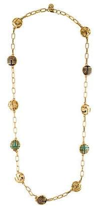 Tory Burch Color Frete Long Station Necklace