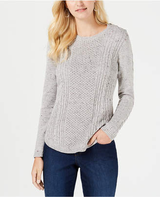 Charter Club Cable-Detail Sweater