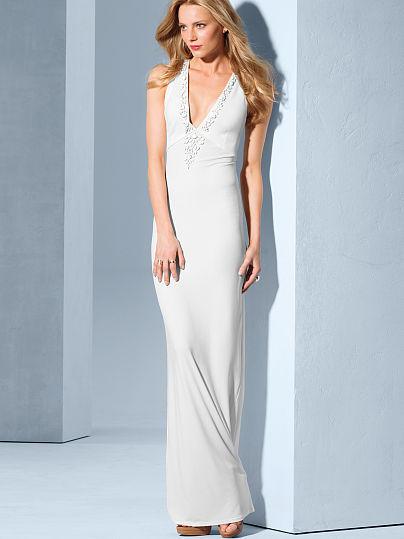 Victoria's Secret Embellished Racerback Maxi Dress