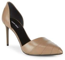 Giorgio Armani Leather Pleated D'Orsay Pumps
