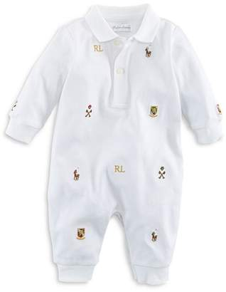 Ralph Lauren Boys' Embroidered Coverall - Baby