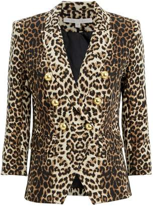 Veronica Beard Empire Leopard Jacket