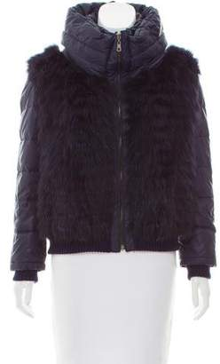 Fox Fur Trimmed jacket