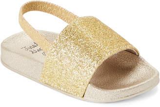 First Steps (Toddler Girls) Gold Glitter Slingback Sandals