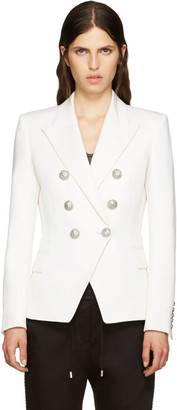 Balmain Ivory Peaked Lapel Blazer $2,325 thestylecure.com