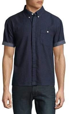 Joe's Jeans Polka Dot Cotton Button-Down Shirt