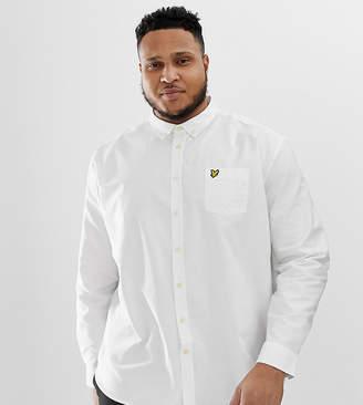 Lyle & Scott Buttondown Logo Oxford Shirt in White
