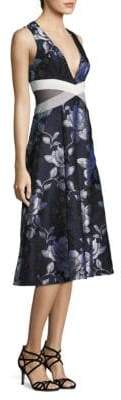 ABS by Allen Schwartz Floral Jacquard Midi Dress