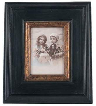 Pacific Black & Gold Wood Oblong Photo Frame Large