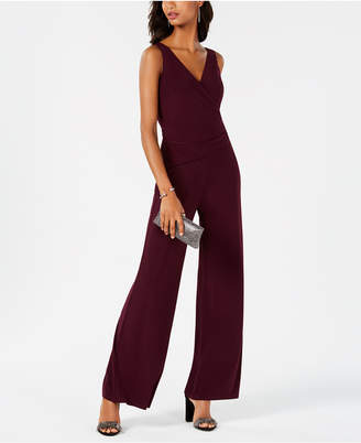Nine West Surplice Wrap Jumpsuit