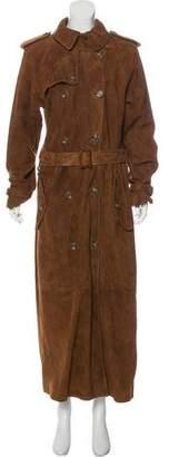 Ralph Lauren Long Suede Leather Coat