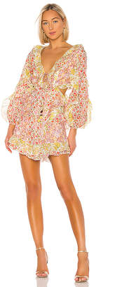 Zimmermann Goldie Spliced Dress