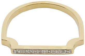 Monica Vinader Gold-Plated Signature Thin Diamond Ring